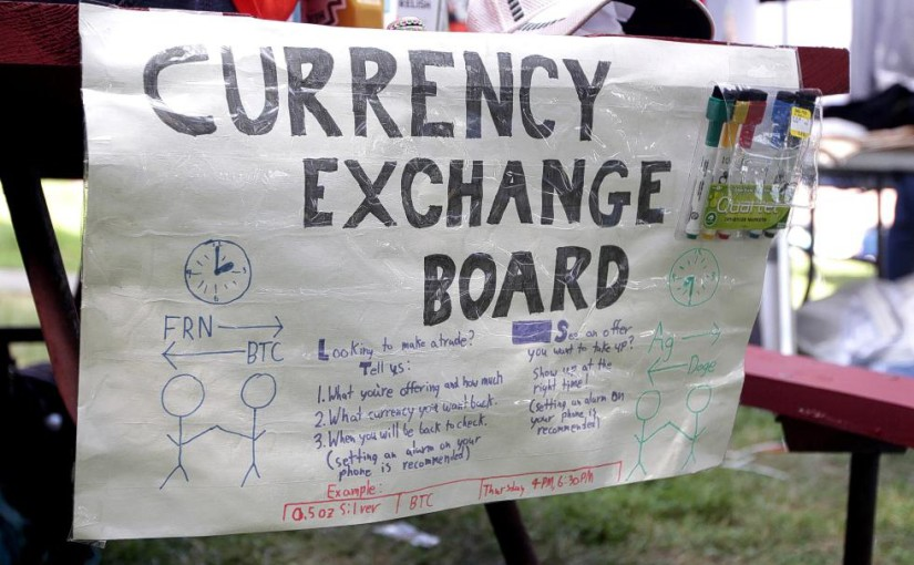 For BIZBitCoin-cm-070714  Sign at the event - Concord Monitor