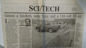 1994 article about electric car study in New Hampshire