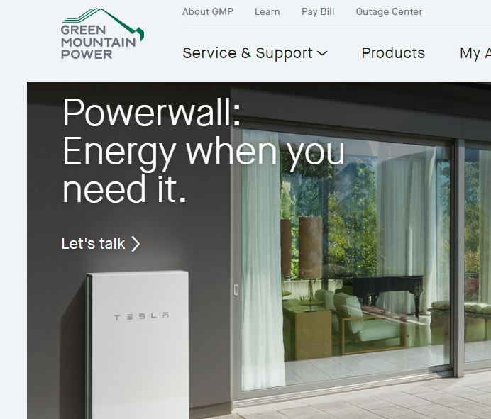 Vermont utility and Tesla making Powerwall battery available to homes, pretty cheap