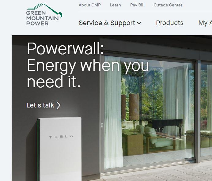 Green Mountain Power >> Green Mountain Power Tesla Powerwall Granite Geek