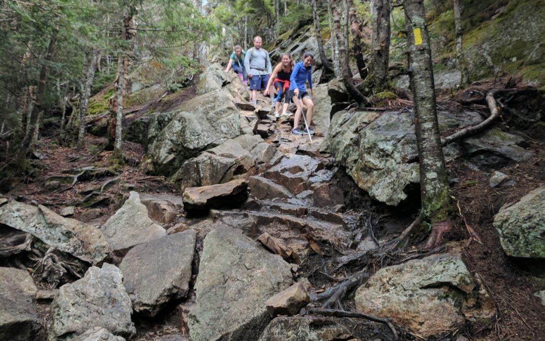 Why are hiking trails in New Hampshire so darn steep and rocky?