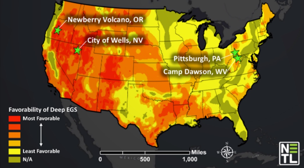 Conway is a geothermal hot spot, due to underground radioactivity
