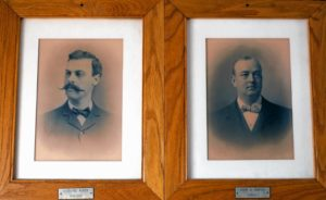 The change from 19th-century Mayor Nathaniel Martin to clean-shaven Harry Sargent in 1901. GEOFF FORESTER/Monitor staff
