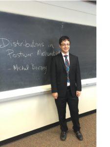 Michael Barany before his Ph.D. defense. Courtesy