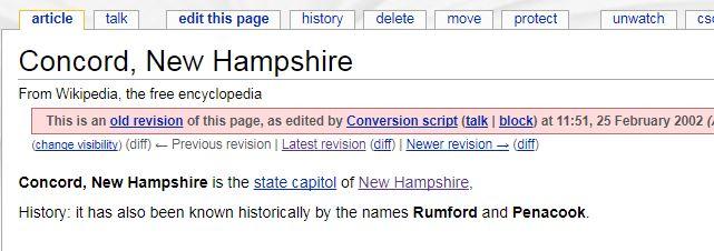 For my wikipedia anniversary (15 years), I hunt down Concord's creator