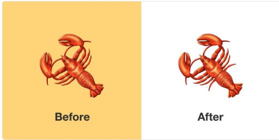 Important New England news: Lobster emoji is now anatomically correct