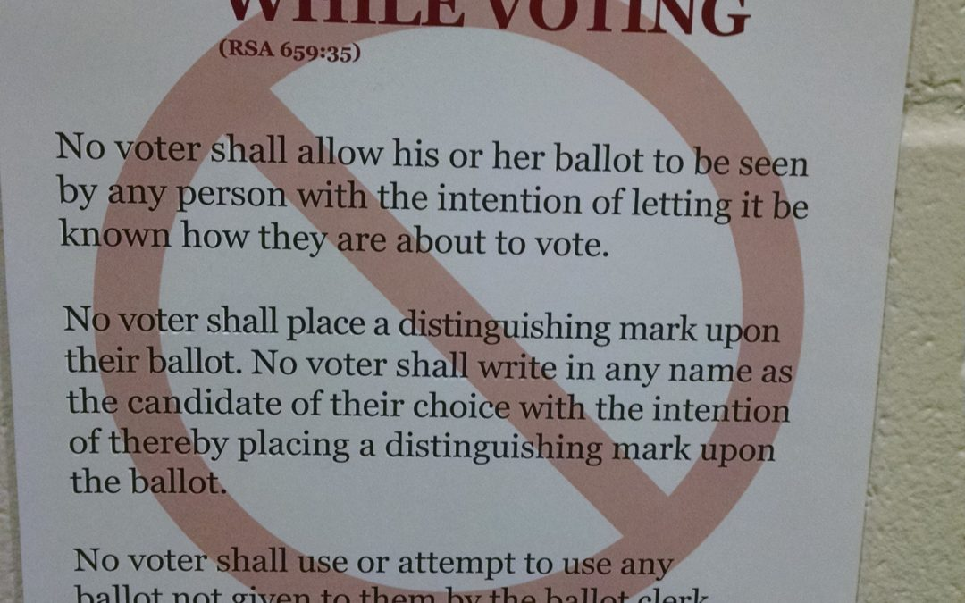 New Hampshire polling places no longer warn you not to take 'ballot selfies'