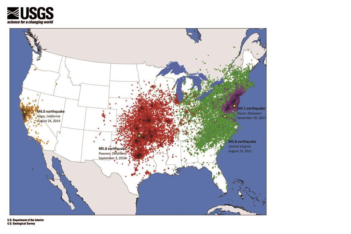 USGS earthquake map   Granite Geek