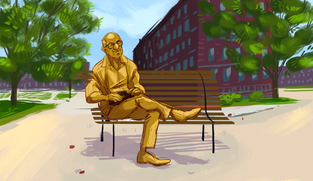 What we need: A 3D-printed statue of NH video game pioneer sitting on a public bench