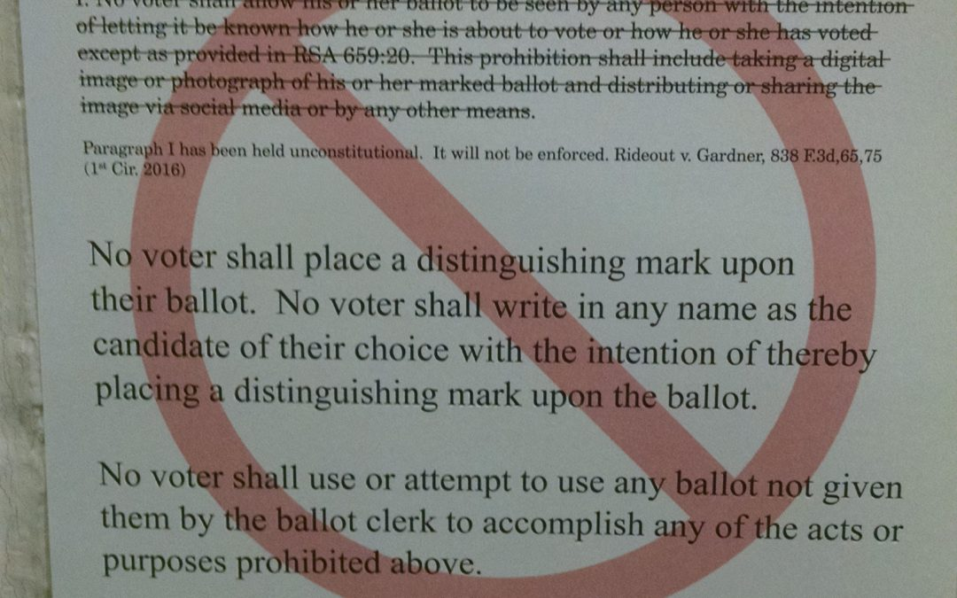 Ballot selfies are legal but their low-tech equivalent is still forbidden