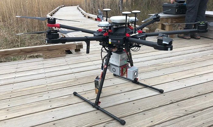 Drone used in Great Bay mapping.