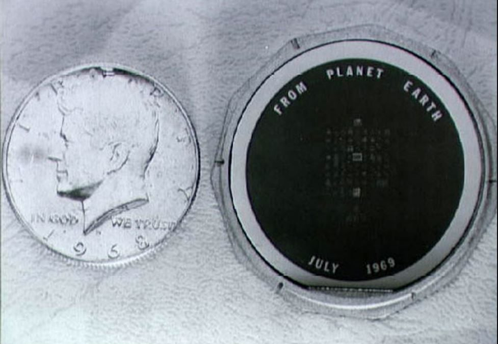 More about that disc of messages that Apollo 11 left on the moon