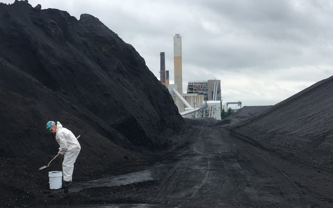 There's a lot of coal piled at this NH power plant