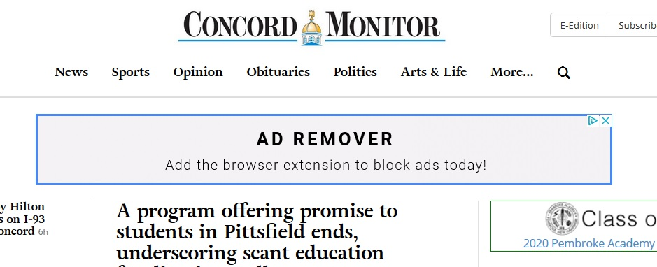 An advertisement for blocking advertisements