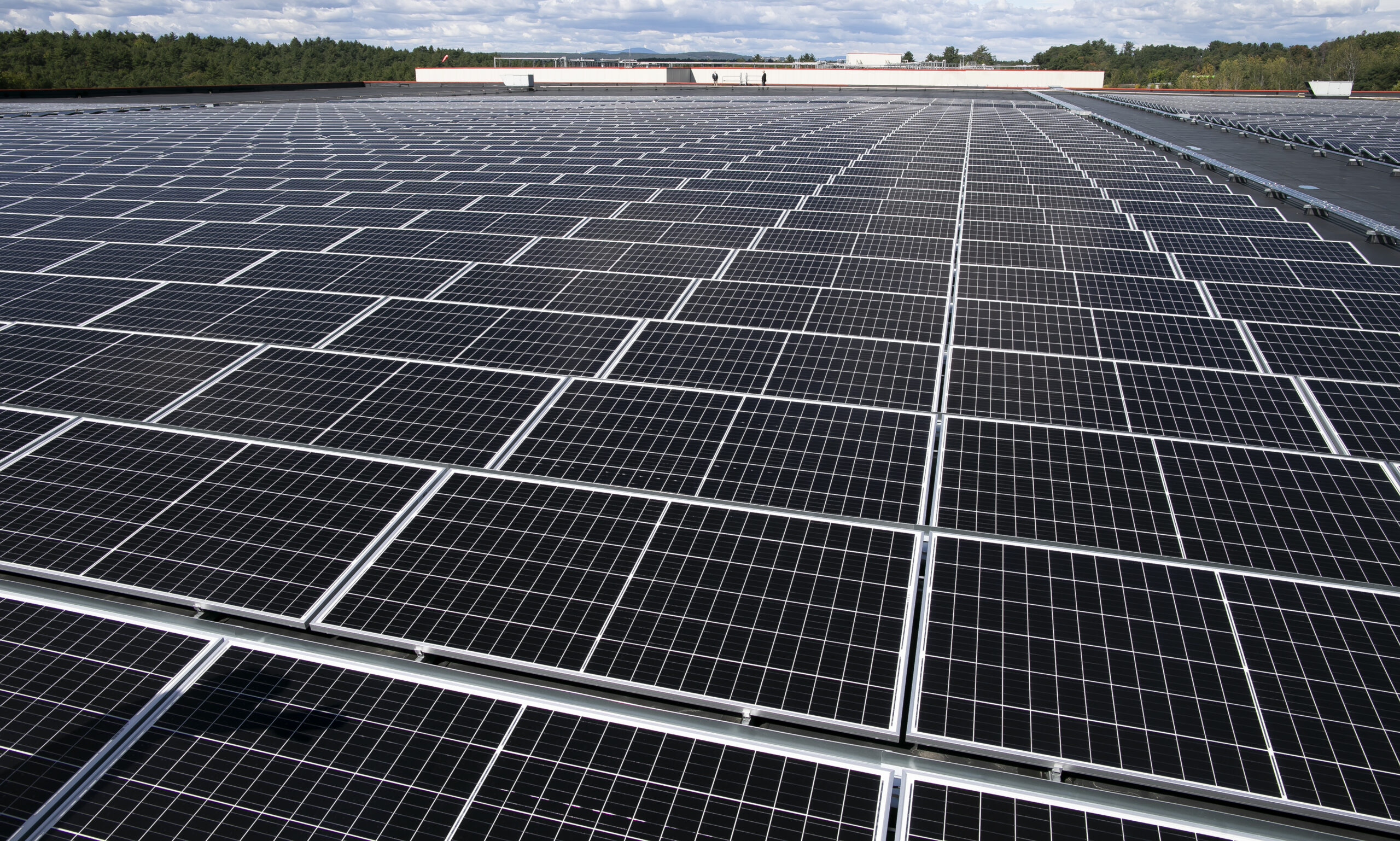 It's our biggest rooftop solar array! That's not saying much in N.H.